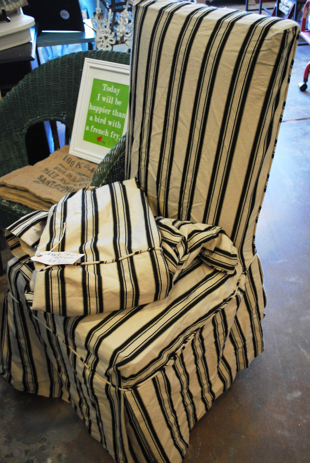 Black Parsons Chair Slipcovers Teen Room Chairs The Daily Uptown Country More New October 5 2011