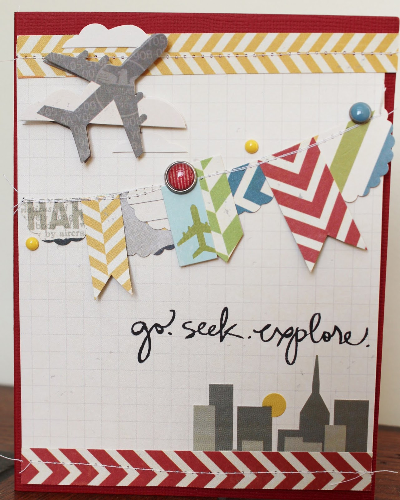 Postcard Quotes Travel: Live The Moment: Simple Stories' Urban Traveler Layout + Card
