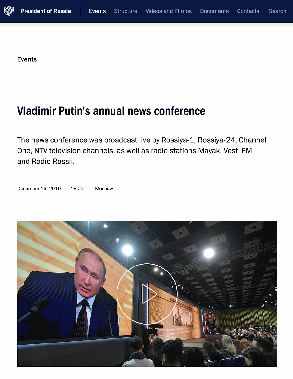 Viable Opposition Vladimir Putin Annual Press Conference 2019 Edition