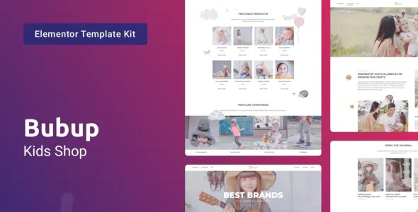 Best Kids Store & Baby Shop Elementor Template Kit