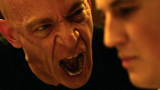 J.K Simmons screams in Miles Teller's Face in Whiplash