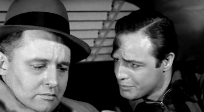 "Screenshot of Rod Steiger and Marlon Brandon in ""On The Waterfront"" 1954"