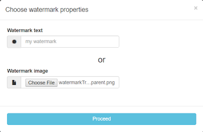 Pic. 6 Applying watermark settings
