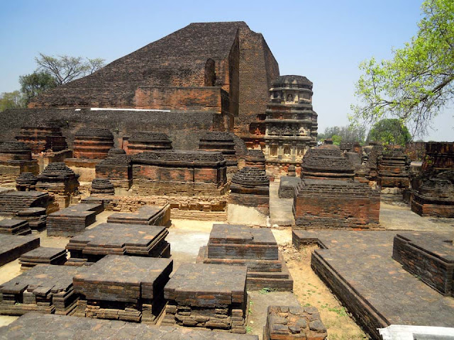 he Sariputta stupa, the oldest structure in Nalanda, built in the 3rd century BC by Ashoka