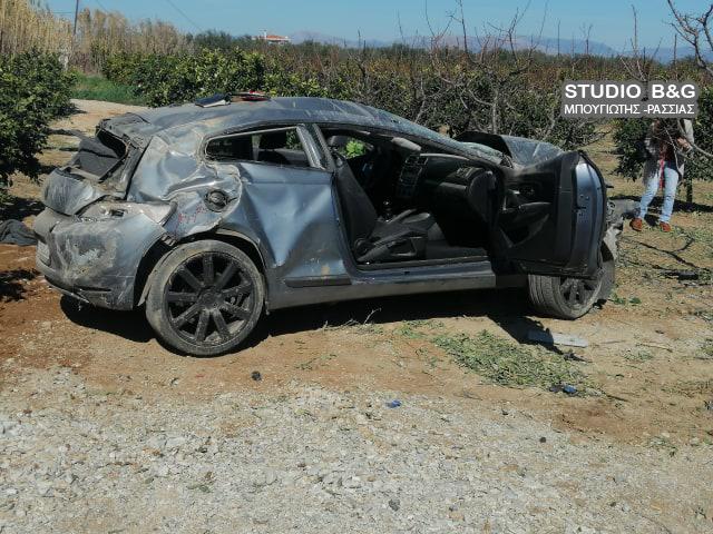 Αεροπλανική εκτροπή αυτοκινήτου στο Άργος - Από θαύμα γλύτωσε ο οδηγός