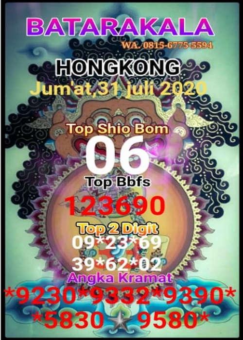Kode syair Hongkong Jumat 31 Juli 2020 66