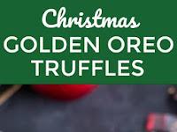 CHRISTMAS GOLDEN OREO TRUFFLES