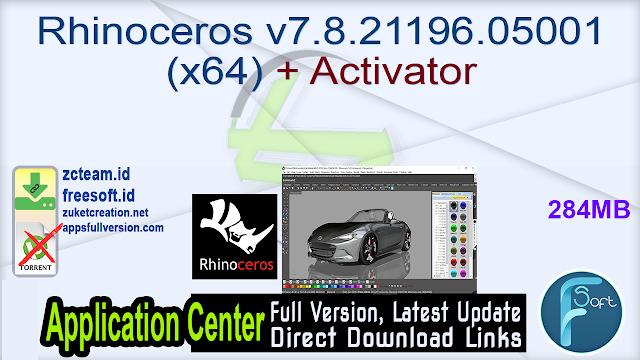 Rhinoceros v7.8.21196.05001 (x64) + Activator_ ZcTeam.id