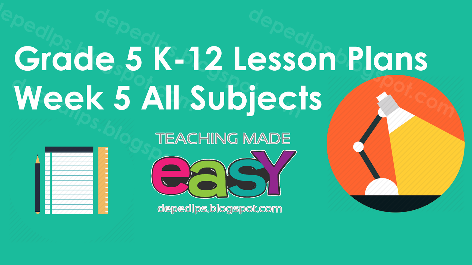 Worksheet 5 Grade grade 5 k 12 lesson plans week all subjects deped lps subjects