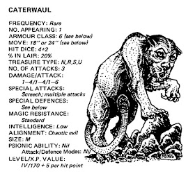 Swords & Stitchery - Old Time Sewing & Table Top Rpg Blog: OSR Commentary -  Sound & Fury An Alternative Ecology For The Caterwaul From The Advanced  Dungeons & Dragons First Edition