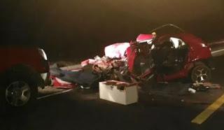Colisão entre carro e ônibus de sacoleiros deixa dois mortos no RN