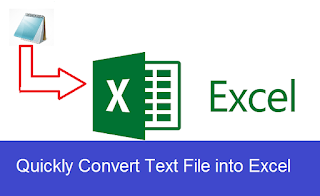 text to excel