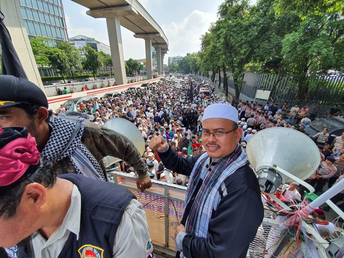 Massa Aksi Kepung Kedubes India Membludak, Media Mainstrem Tiarap?