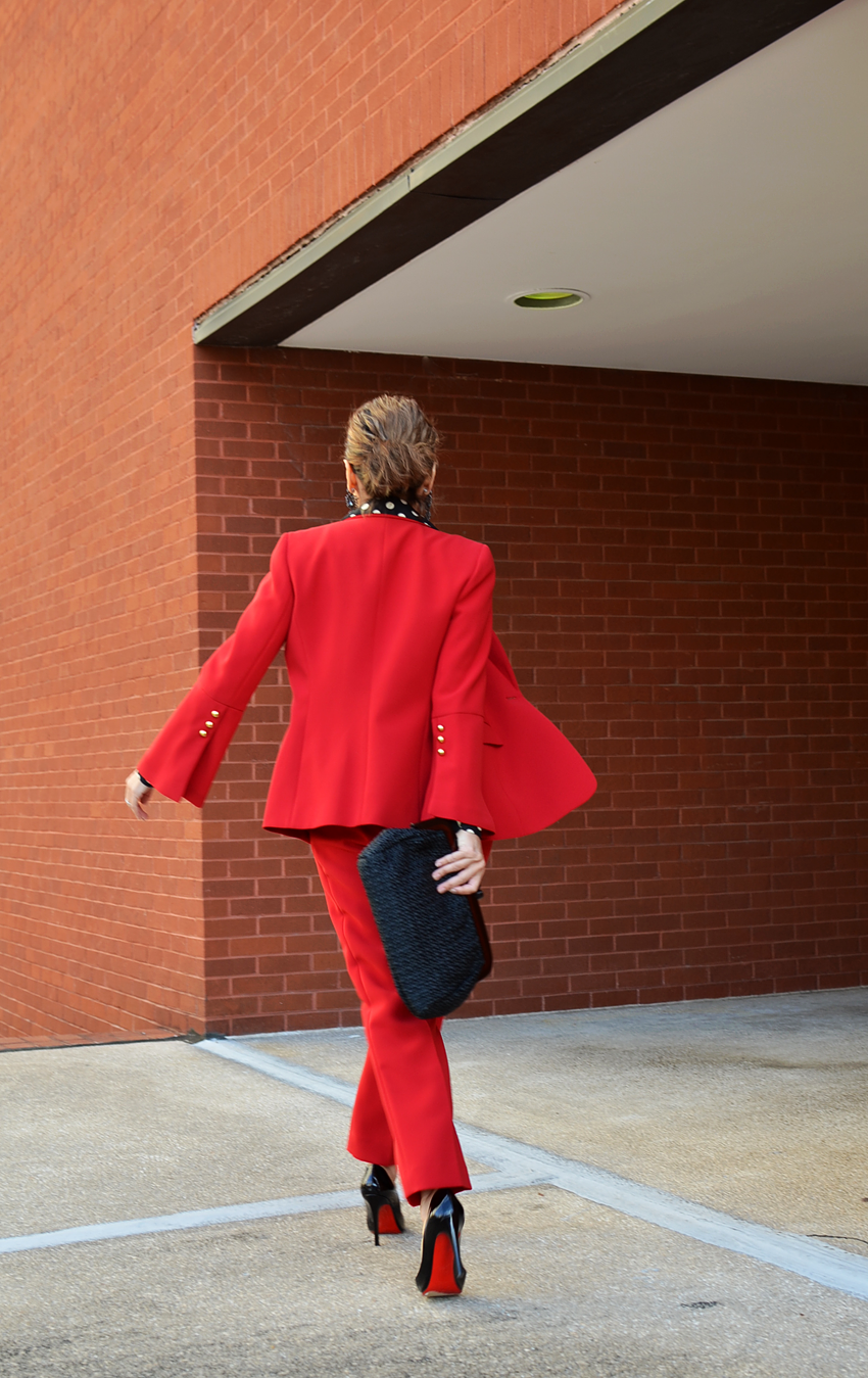 Red Suit Street Style