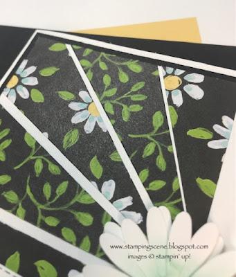 starburst technique card making daisy land stamp set