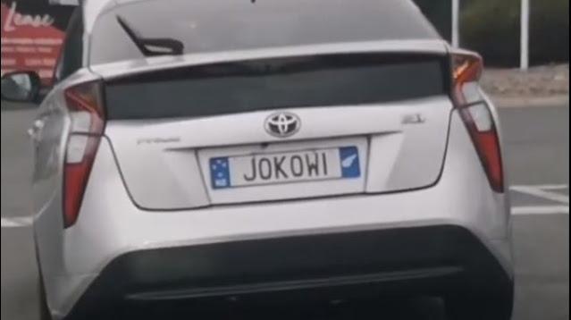 Mobil dengan Pelat Nomor Tulisan Jokowi Bikin Heboh, Publik Bertanya-tanya