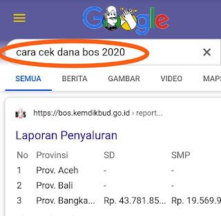 Dana Bos Sudah Cair!!! Cara Mudah Cek Dana Bos Tanpa Ke Harus Ke Bank
