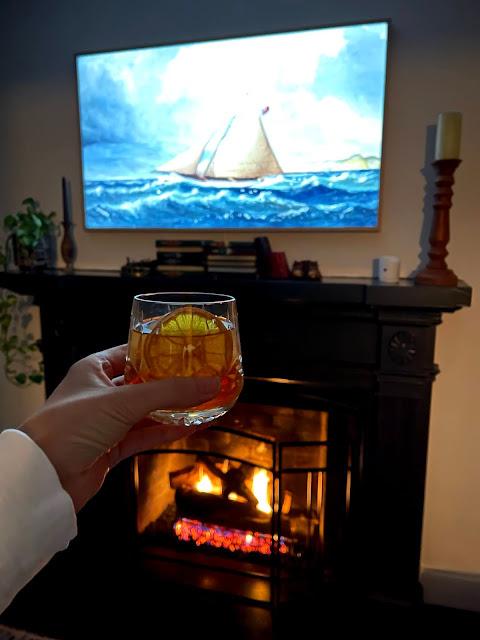 Frame TV over fireplace