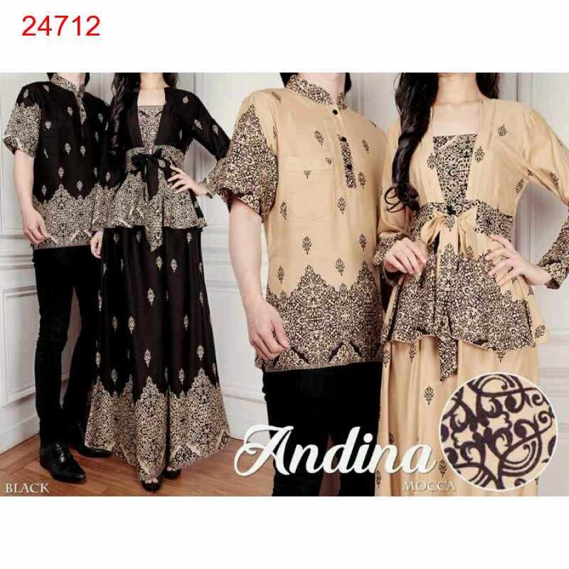 Jual Batik Gamis Couple Andina - 24712