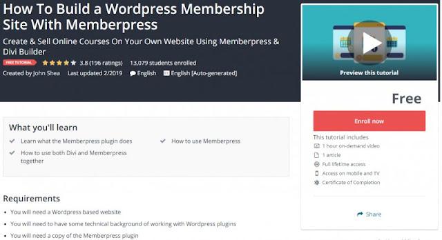 [100% Free] How To Build a Wordpress Membership Site With Memberpress