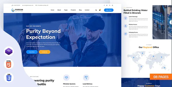 Best Drinking Mineral Water Delivery HTML5 Template