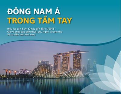 Vé máy bay khứ hồi đi Đông Nam Á chỉ từ 50USD với Vietnam Airlines