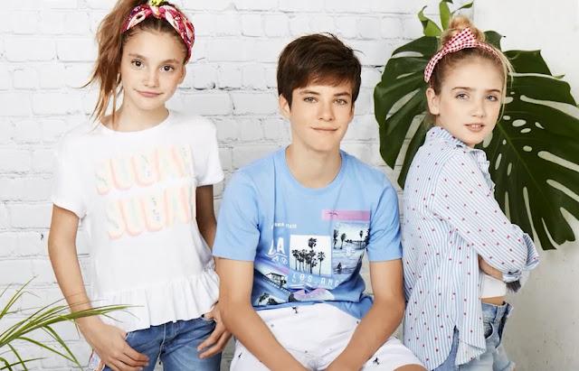 Moda primavera verano 2018 ropa para niños y niñas.