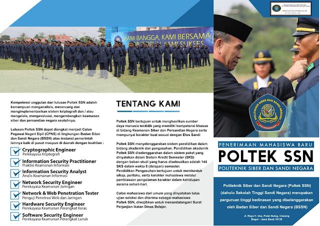 Penerimaan Ikatan Dinas PoltekSSN Badan Siber dan Sandi Negara Juni 2020