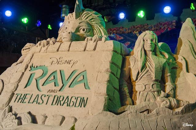 Walt Disney World, WDW, Raya and the Last Dragon Sand Carving at Disney's Animal Kingdom