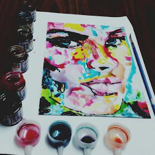 الرسم على الزجاج