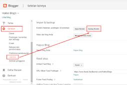 Cara Mudah Backup Konten Blogger