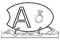 Alfabeto centopeia letra A