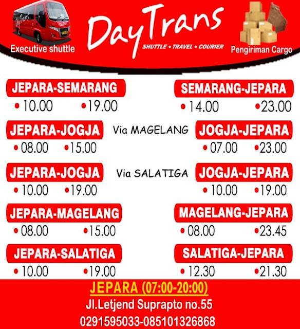 Jadwal Travel Daytrans Jepara