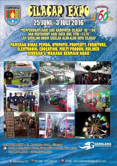Jadwal acara informasi event di Cilacap : Cilacap Expo 2016