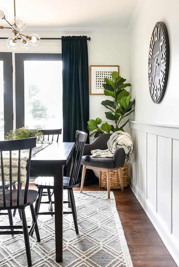 Bright White Modern Farmhouse Dining Room, Farmhouse Dining Room