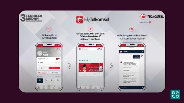 Tutorial MyTelkomsel Tanya Veronika Virtual Asisten Telkomsel