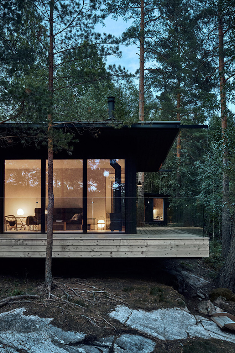 A Contemporary Finnish Cabin On The Water's Edge