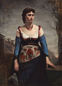 Agostina Segatori, painted by Jean- Baptiste-Camille-Corot in 1866