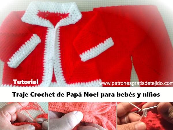 chaqueta-pantalon-de-Santa-Claus-crochet-bebes