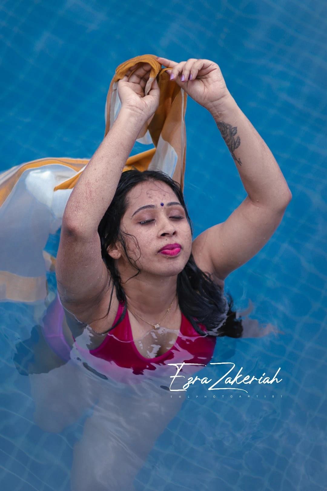 Gowri Siji Mathews Pool Photoshoot
