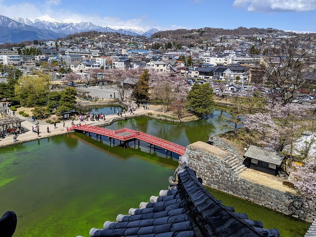 Springtime in Japan: View from Matsumoto Castle