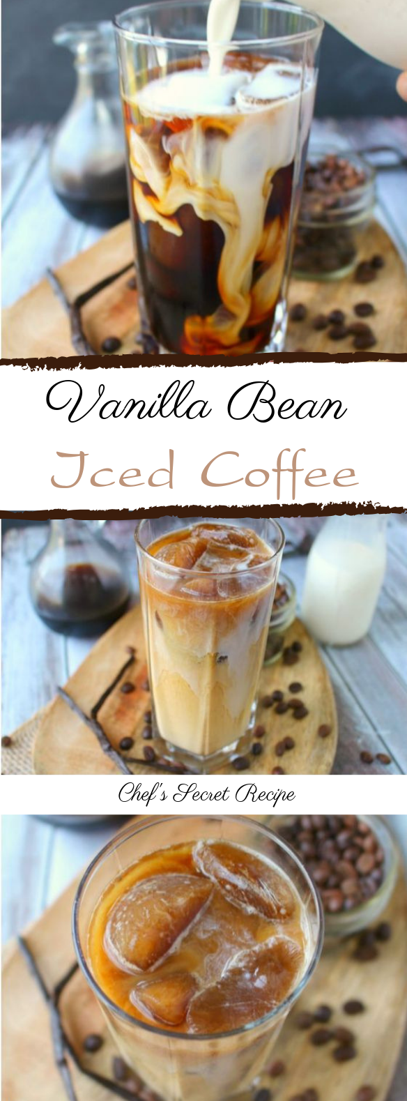 Vanilla Bean Iced Coffee #coffee #drink