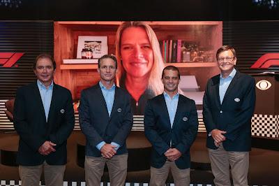 A equipe de transmissão: Reginaldo Leme, Felipe Giaffone, Max Wilson, Sergio Mauricio e Mariana Becker