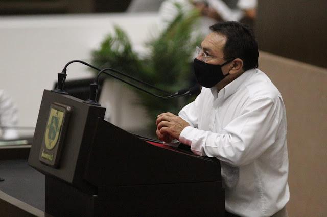 oordinador de la fracción de Morena, Miguel Candila Noh