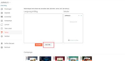 ganti template blogger terbaru