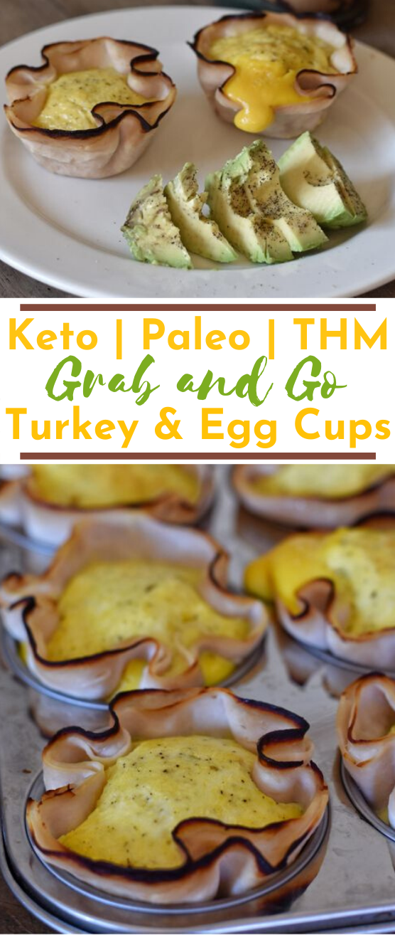Baked Turkey Egg and Cheese Muffins #healthy #breakfast #lowcarb #glutenfree #keto