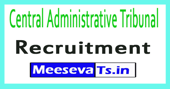 Central Administrative Tribunal CAT Recruitment