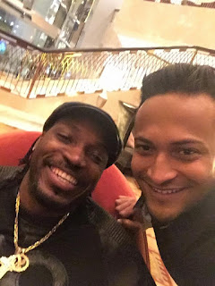 Shakib Al Hasan With Chris Gayle