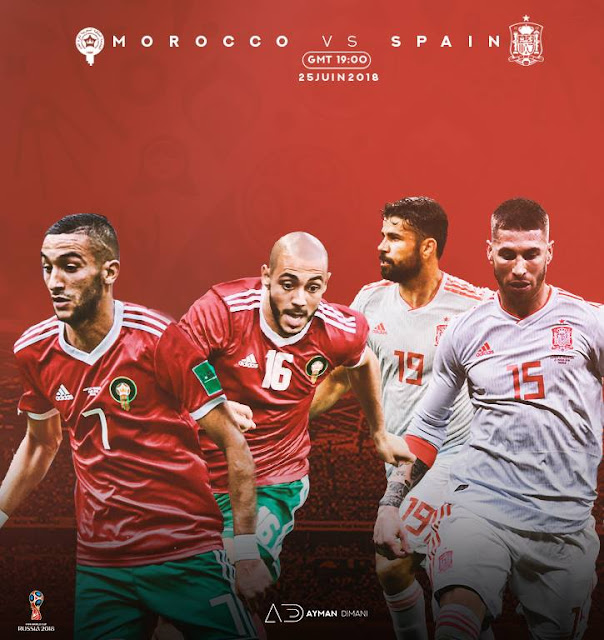SPAIN VS MOROCCO LIVE STREAM WORLD CUP 26 JUNE 2018