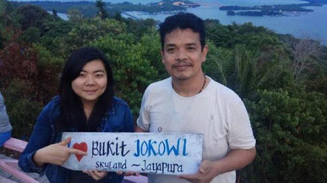 Tersangka Provokasi Veronica Koman Selfie di Bukit Jokowi Pasca Pecah Kerusuhan di Papua
